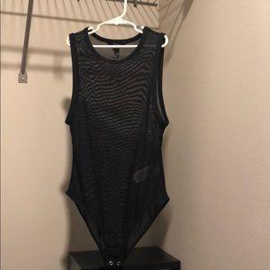 Black Mesh body suit